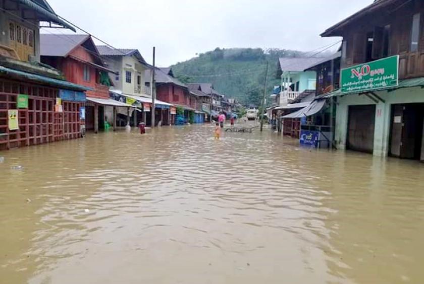 တနင်္သာရီမြစ်ရေ ပထမအကြိမ်ကြီးစဉ်က တနင်္သာရီမြို့အတွင်း ရေကြီးရေလျှံမှု ဖြစ်ပွားခဲ့စဉ်